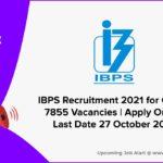 IBPS Recruitment 2021 for Clerks